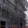 Sistema di pitturazione lavabile al quarzo Paintop (Colorificio San Marco)  per esterno e impregnazione sotto tetto con Marconol cerato noce presso abitazione privata centro storico Pinerolo (TO).